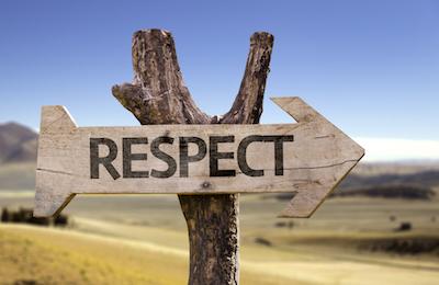Respect should stick out as a positive