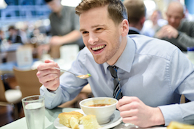 Corporate dinner to be more accessible for self-promotion at work