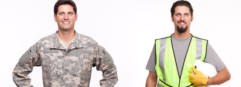 Recruit construction workers from the military