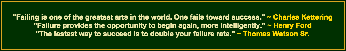3 past failure quotes