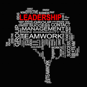 Leadership management styles word tree