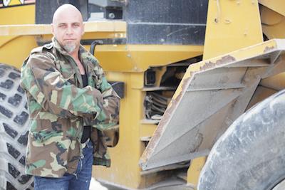 Veteran working construction jobs