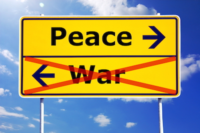 No blame game peace-not-war