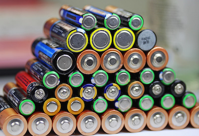 Battery pyramid alkalines don't get recycled