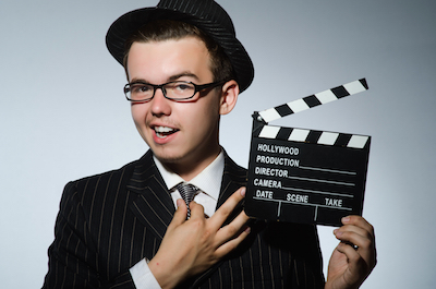 Clapperboard for job interview