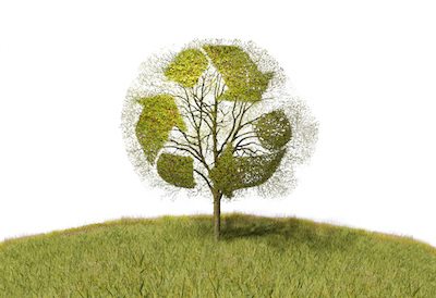 Recycle symbol for green business practices.