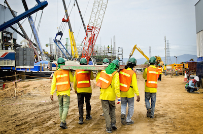 Construction workers and skilled labor shortage