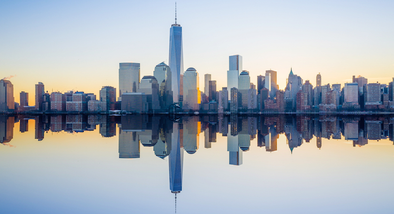 Manhattan Skyline of new World Trade Center