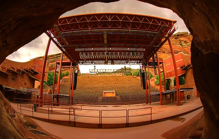Red Rocks Amphitheatre - back of the stage