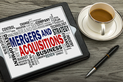 Mergers and acquisitions word cloud