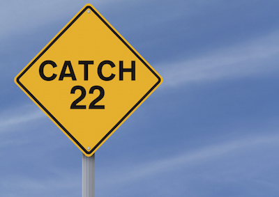 Catch-22 Road Sign.