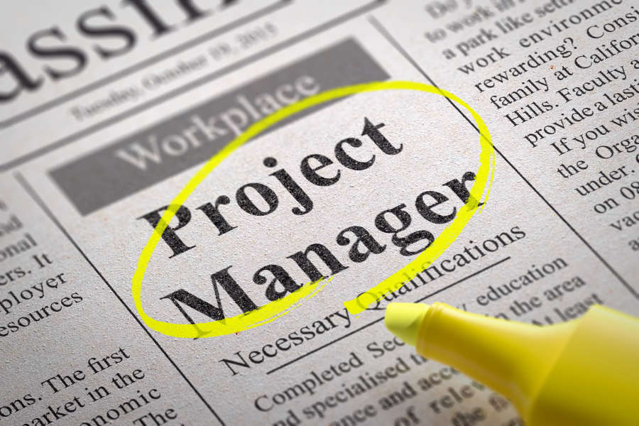 Project Manager Job Title Ad